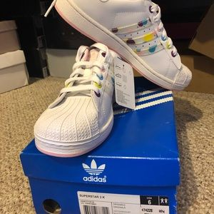 Brand new kids adidas shell toes